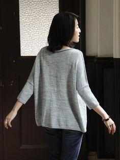 """Мир хобби: Пуловер в стиле """"оверсайз"""" (вязание спицами)"""