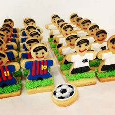 3D Soccer player cookies. This site has heaps of great cookie ideas