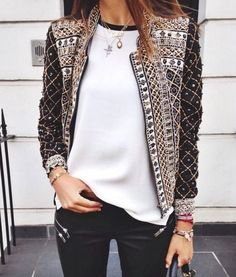 Not your ordinary jacket. | See more embellished jackets on shopstyle.com