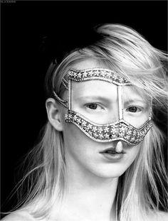 comme des garcons jeweled face mask