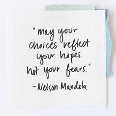 """hopes not your fears"""