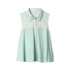 JILLSTUART Jill Cut&Sewn ($115) ❤ liked on Polyvore featuring tops, shirts, women tops, green shirt, men shirts, green top and shirts & tops