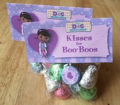 Doc McStuffins inspired printable treat bag toppers / table tents on Etsy, $3.50