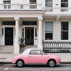 Pretty in Pink! This reminds me of my Barbie car when I was a kid. Great memories, loved that car.