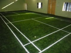 An indoor badminton court @ Raj Bhavan Road, Hyderabad, India