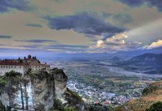 """Photo """"Meteora - Overlooking"""" (Thessaly, Greece) by rikfreeman Won: 5 x Superb Composition 1 x Top Choice 1 x Superior Skill 1 x Absolute Masterpiece 1 x Outstanding Creativity awards + 13 Likes Viewbug December 2014 Some Image, December 2014, Greece Travel, Composition, Awards, Creativity, Mountains, Pictures, Greece Vacation"""