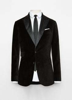 Appliqué velvet Tailored blazer