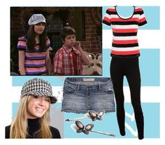 """Dress like Alex Russo (Wizards of Waverly Place)"" by cookiegal222 ❤ liked on Polyvore featuring Disney, Maine New England, Dorothy Perkins and Hollister Co."
