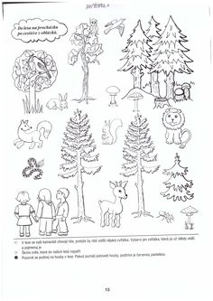 les Nature Activities, Activities For Kids, Animal Crafts For Kids, Coloring Book Pages, Shrubs, Animals And Pets, Habitats, Preschool, Embroidery