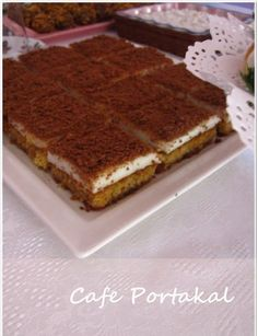 When my friend Emel recommended this dessert, I immediately added it to the Tea Invitation menu. When my friend Emel recommended this dessert, I immediately added it to the Tea Invitation menu. Cake Recipes, Dessert Recipes, Desserts, Pasta Cake, Pudding Cake, Turkish Recipes, Yummy Cakes, Food And Drink, Cooking Recipes