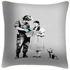 Stop & Search Wizard of Oz cushion Banksy, Auction, Inspiration, Google Images, Greek Statue, Statue, Male Sketch, Art, Wizard Of Oz