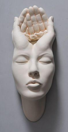 face sculpture Open Mind: New Warped Face Sculptures by Johnson Tsang Johnson Tsang, Colossal Art, Art Sculpture, Sculpture Portrait, Clay Art, Ceramic Art, New Art, Sculpting, Pottery