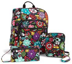 Rumors have been rampant around Disney Springs lately about the future of the Disney + Vera Bradley pairing. It's been months since a new Vera design hit the shelves, and older collections have been disappearing from stores around Disney World. Vera Bradley Disney, Vera Bradley Purses, Vera Bradley Backpack, Disney Handbags, Disney Purse, Cheap Purses, Cute Purses, Cheap Bags, Gucci Purses