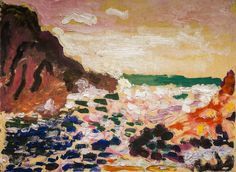 Henri Matisse - Seascape (Beside the Sea), 1906 at San Francisco Museum of Modern Art - viewed at the Legion of Honor