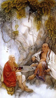 Коллекция картинок: Живопись китайской художницы Ji Shuwen. Небожители