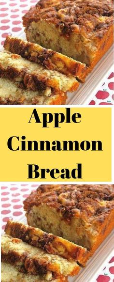 Apple+Cinnamon+Bread Banana Bread Easy Moist, Apple Banana Bread, Moist Apple Cake, Apple Cinnamon Bread, Cinnamon Apples, Apple Recipes Easy, Quick Bread Recipes, Banana Bread Recipes, Baking Recipes