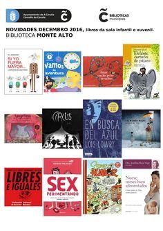 Novas lecturas do mes de decembro da sala infantil e xuvenil na biblioteca Monte Alto.