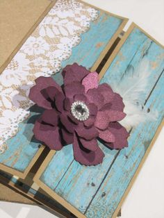 plum and teal wedding invitation by JennyPie5 on Etsy, $6.25