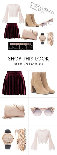 """""""Lacy pink"""" by paris2738 ❤ liked on Polyvore featuring Yves Saint Laurent, LC Lauren Conrad, Jimmy Choo, Jessica Carlyle and Charlotte Russe"""