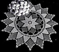Vintage Crafts and More - Star of Hope Doily Vintage Crochet Pattern