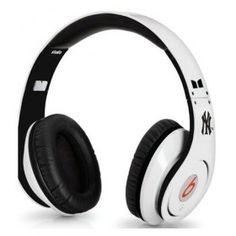 Fashion Monster Beats by Dr. Dre Studio New York Yankees High-Definition On-Ear Headphones White $ 182.25 go to http://www.cheapdrebeatheadphones.com