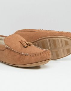 Top Fashion Gifts for Men - keep your feet warm and cozy with these ASOS slippers Warm And Cozy, Moccasins, Asos, Slippers, Gift Ideas, Clothes For Women, Brown, Gifts, Shopping