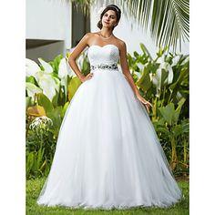 Ball Gown Sweetheart Floor-length Tulle Wedding Dress - USD $ 149.99