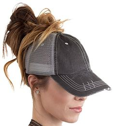 BOEKWEG The Original Fashionable Ponytail Hat. (Distresse... https    61527ff328b5