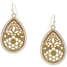 Sparkling Sage 14K Plated Earrings ($26) ❤ liked on Polyvore featuring jewelry, earrings, jewelry & watches, no color, 14k jewelry, 14 karat gold earrings, sparkling sage earrings, metal jewelry and metal jewellery