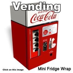 Dr Pepper Vintage Mini Fridge Front Wrap Sticker