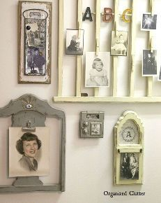upcycled vintage photo holder on gallery wall, how to, repurposing upcycling, wall decor