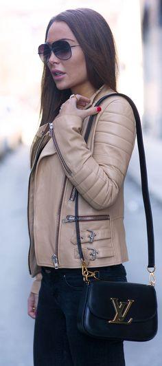 Mini Bag Trend: Johanna Olsson is wearing a mini bag from Louis Vuitton