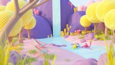 Fairy tales -- illustrations on Behance 3d Design, Game Design, Candy Art, 3d Artwork, Environment Concept Art, Fantasy Landscape, Illustrations And Posters, Motion Design, Art Sketchbook