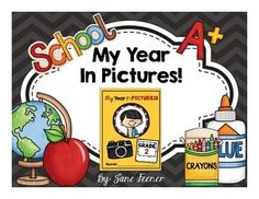 End of the year fun project.My Year In Pictures!If your students are familiar with Instagram then they will love this end of year project.  Students draw pictures of memories from their school year in picture frames.  On the page next to it they write about and describe their pictures.