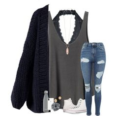 A fashion look from December 2017 featuring I Love Mr. Mittens cardigans, RVCA tops and Topshop jeans. Browse and shop related looks. Teenage Outfits, Cute Teen Outfits, Cute Outfits For School, Cute Comfy Outfits, Teen Fashion Outfits, Mode Outfits, Simple Outfits, Trendy Outfits, Teen Fashion Winter