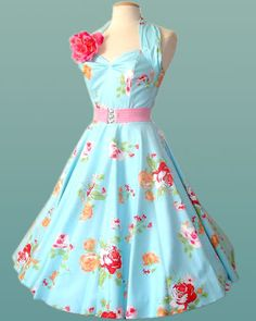 housewife dress, want NOW! 50s Dresses, Pretty Dresses, Vintage Dresses, Beautiful Dresses, Vintage Outfits, Rockabilly Dresses, Amazing Dresses, Homecoming Dresses, Short Dresses