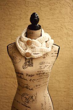 The FSB Four Strand Braid Crochet Cowl by CarocoloCrochet on Etsy