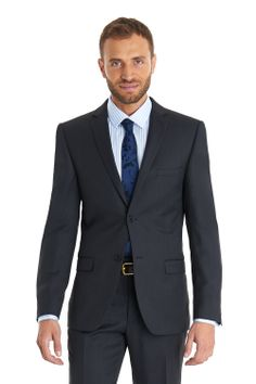 "Ted baker single breasted two button suit exclusive to Moss. When selecting your size. Please note that the size advertised is the jacket chest size, the trouser accompanying this suit will be a 6"" drop from chest to waist, i.e. a 40R chest suit will come with a 34R waist trouser. If you are not the set suit size, we recommend that you look at our Mix and Match suit section."