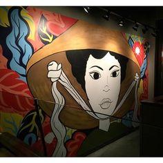 Mural got an upgrade 😎 - laurageiselman Vietnam, Coffee Shop Design, Industrial Interiors, Community Art, Portrait, Minneapolis, Murals, Illustration, Painting