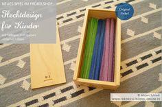 120 Flechtstreifen aus Holz für Kinder! Im Holzkasten, Made in Germany, Original Froebel