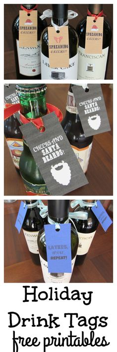 Holiday Drink Tags.