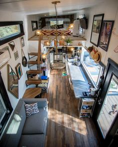 Tiny House Inside Home 84 best tiny houses 2019 small house pictures amp plans at 970 square feet t&; Tiny House Inside Home 84 best tiny houses 2019 small house pictures amp plans at 970 square feet t&; Best Tiny House, Tiny House Plans, Tiny House On Wheels, Tyni House, Tiny House Living, House Wall, Small Living, Small Room Design, Tiny House Design