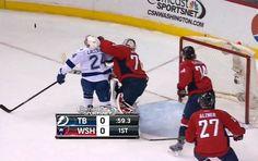 Braden Holtby Falcon Punches Ryan Callahan ~Washington Capitals~