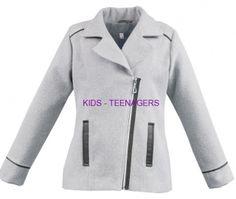dievčenský kabát KAREN v sivej farbe