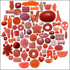 rockmade - Red candy art by craig kanarick Candy Art, Red Candy, Candy Photography, Photography Projects, Things Organized Neatly, Palette, Found Object Art, Colorful Candy, Candy Colors