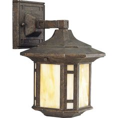 """Progress Lighting P5628 Arts and Crafts 1 Light 11"""" Tall Outdoor Wall Sconce wit Weathered Bronze Outdoor Lighting Wall Sconces Outdoor Wall Sconces"""