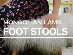 100% Real Natural Mongolian Lamb Fur Stool from GlamorousJILL by DaWanda.com