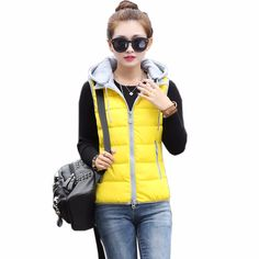 Winter Vest Women Brand cotton wool collar Removable hooded down vest Windproof Warm Waistcoat veste femme Casual Thicken Jacket. Yesterday's price: US $23.25 (20.23 EUR). Today's price: US $14.65 (11.97 EUR). Discount: 37%.