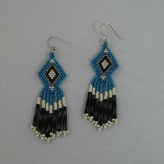 Diamond Shaped Native American Earrings by SiroccosTradingPost, $24.00
