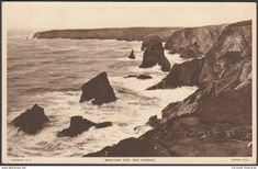 Bedruthan Steps, near Newquay, Cornwall, c.1930s - Tuck's Postcard